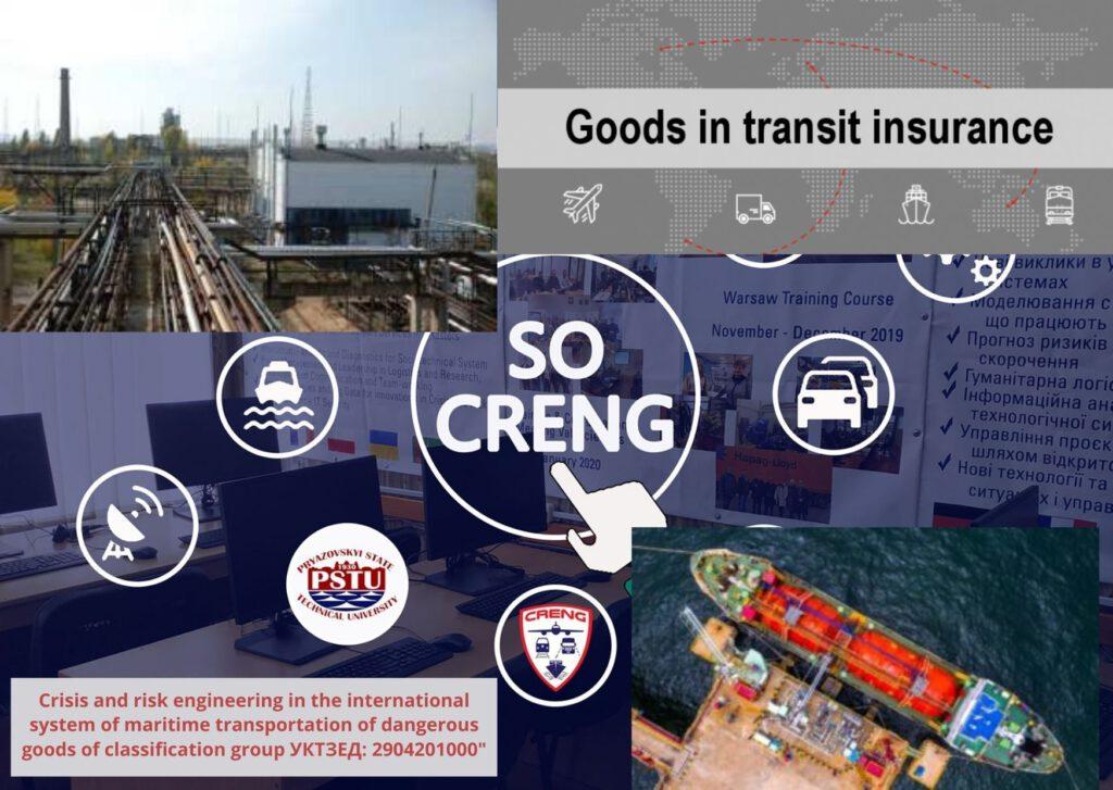 System of maritime transport of dangerous goods